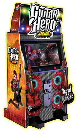 discontinued product guitar hero arcade video arcade machine information page from bmi. Black Bedroom Furniture Sets. Home Design Ideas