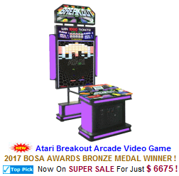 New Video Redemption Arcade Game For Sale : Atari Breakout Ticket Videmption Game
