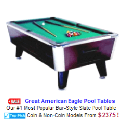New Arcade Sports Game For Sale : Great American Eagle Pool Tables