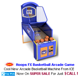 New Arcade Sports Game For Sale : Hoops FX Basketball Arcade Game