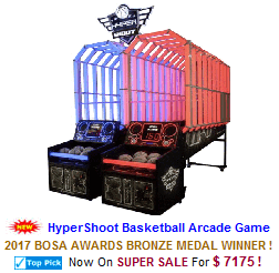New Arcade Sports Game For Sale : HyperShoot Basketball Arcade Machine