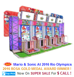 New Arcade Sports Game For Sale : Mario and Sonic At The 2016 Rio Olympics Ticket Videmption Sports Arcade Machine