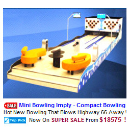 New Arcade Sports Game For Sale : Imply Mini Bowling Alley Machine