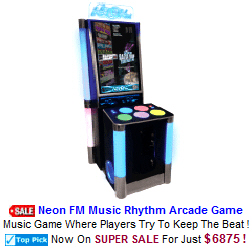 New Video Arcade Game For Sale : Neon FM Music Rhythm Arcade Game