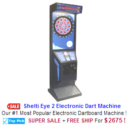 New Arcade Sports Game For Sale : Shelti Eye 2 Electronic Dart Machine